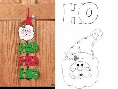 adornos navideños para puertas fieltro - Buscar con Google