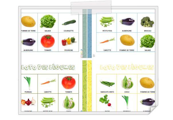 Loto et mémory des légumes + référentiel des légumes http://www.iticus.fr/?p=629