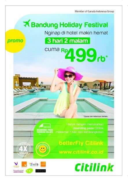 Great offer hotels rate in Bandung..with showing citilink boarding pass