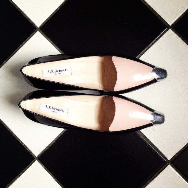 L.K.Bennett #ShoeOfTheWeek is our brand new #vintage inspired 'Edith' kitten heel #Pink #Metallic #Loafer #LKBennett
