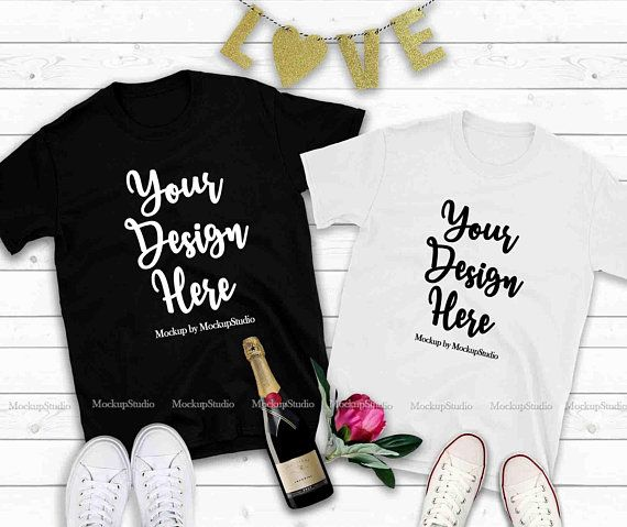 Download Free Couple Two T Shirts Mockup Valentine Shirt Mock Up His Psd The Free Psd Mockup File Consists Of Smart Ob Shirt Mockup Design Mockup Free Tshirt Mockup