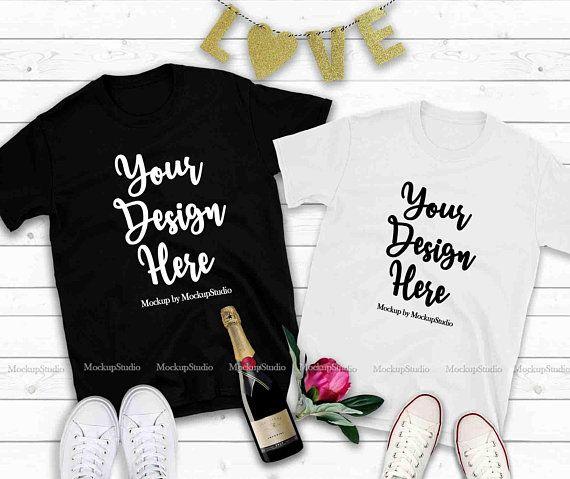 Download Free Couple Two T Shirts Mockup Valentine Shirt Mock Up His Psd The Free Psd Mockup File Consists Of Smart Shirt Mockup Design Mockup Free Valentines Shirt