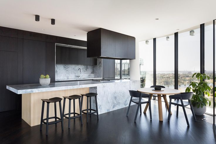 The YVE penthouse residential renovation features a fully integrated kitchen, a secret butler's pantry and living and entertaining spaces to live well.