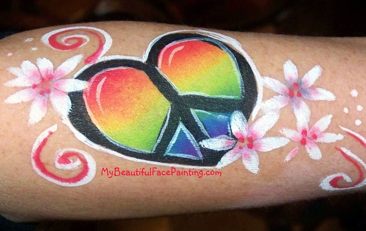 faux peace tattoo pintacaritas Pinterest