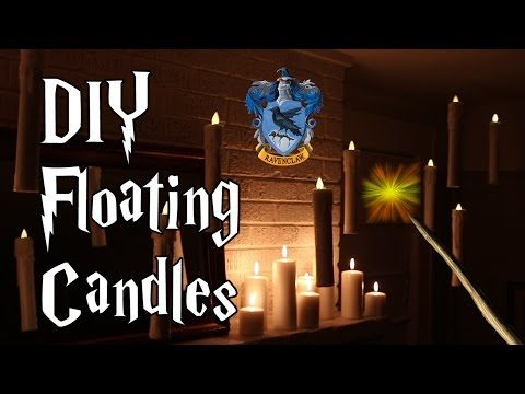 DIY Hogwarts Floating Candles, Witch Crafting #3 (CONTEST CLOSED) - YouTube