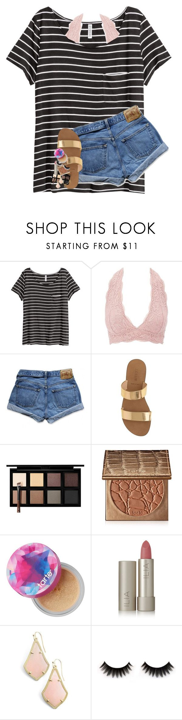 """USC IS DOWN BY 11"" by lindsaygreys ❤ liked on Polyvore featuring H&M, Charlotte Russe, Abercrombie & Fitch, J.Crew, Down to Earth, tarte, Ilia, Kendra Scott and Alex and Ani"