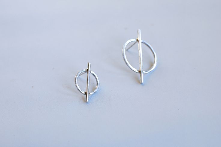 Simple circle silver earrings. Wear one or two or mix and match!