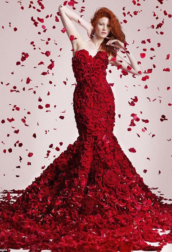 платья красные розовые картинки встает