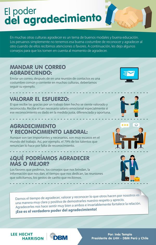 El poder del agradecimiento #infografia infographic #marketing