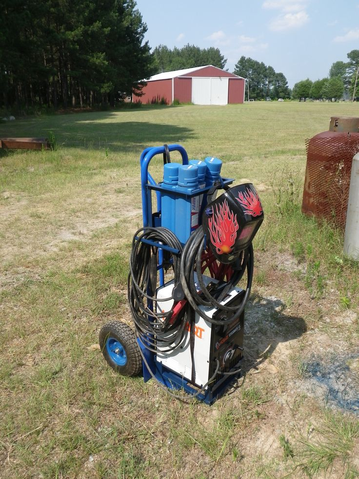 Homemade stick welding cart