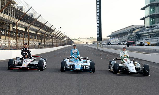 Will Power, James Hinchcliffe, and Ed Carpenter: Indy 500 starting grid