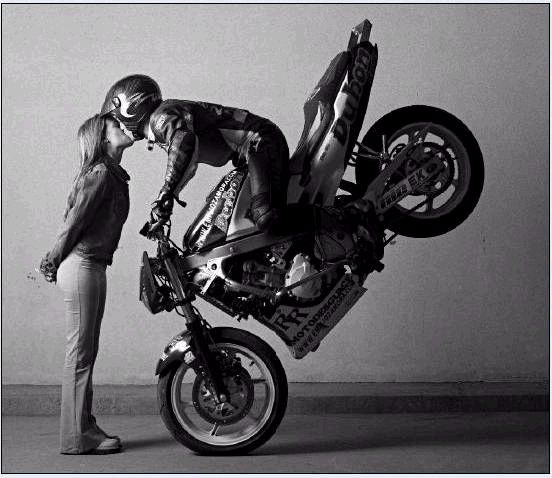 Biker Love, reminds me of me and my hubby <3