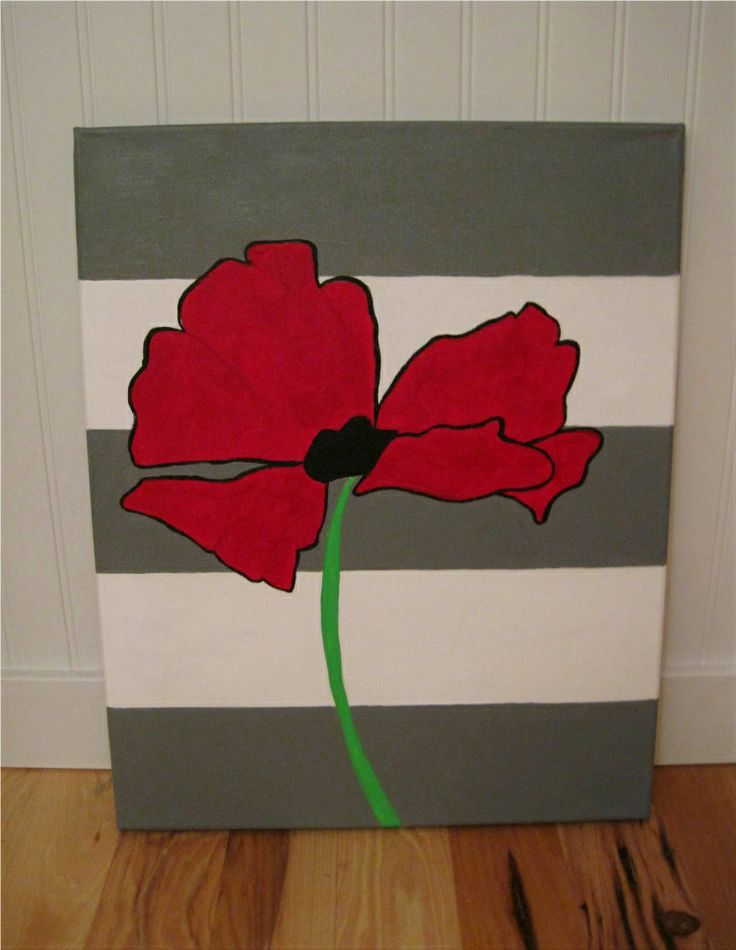 This big oak tree get painting how cute diy flower for How to canvas art