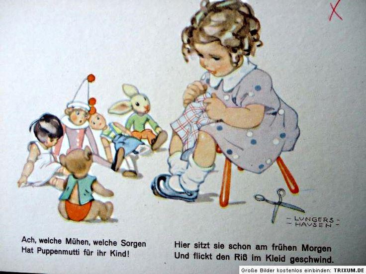 17 best images about dolls on postcards on pinterest for Vintage geburtskarten