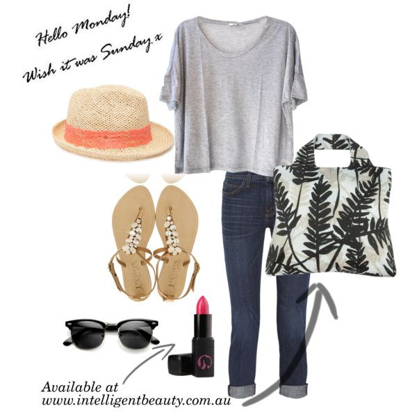 """Hello Monday Wish it was Sunday!"" by intelligentbeauty-australia on Polyvore"