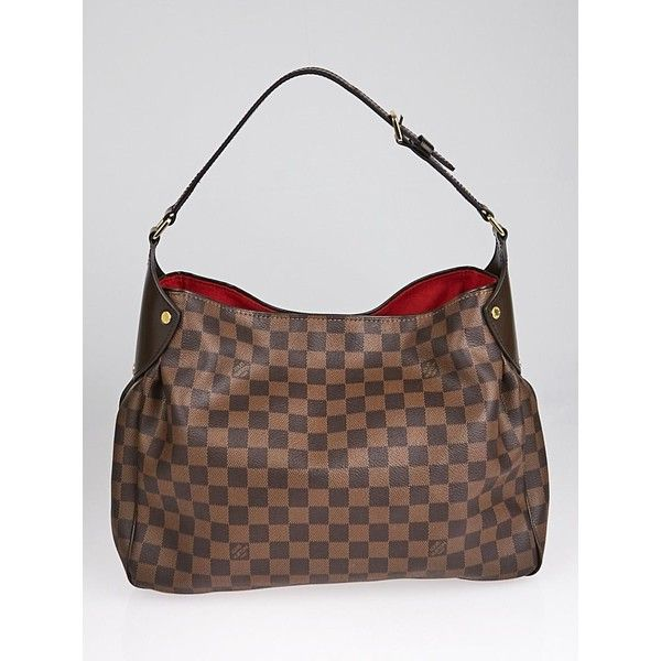 Pre-owned Louis Vuitton Damier Canvas Reggia Bag ($1,395) ❤ liked on Polyvore featuring bags, handbags, pre owned handbags, canvas man bag, pre owned purses, louis vuitton purse and louis vuitton handbags