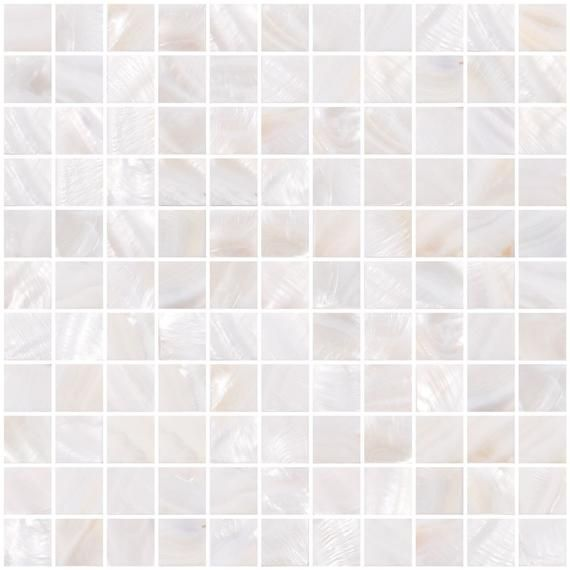 1 Inch Pearlescent White Mother Of Pearl Shell Tile Sh11 Shell Mosaic Tile Shell Mosaic Shell Tiles