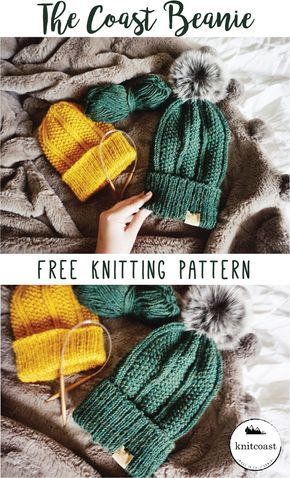 Free Beanie Knitting Pattern By Knitcoast Hats Scarves Gloves And