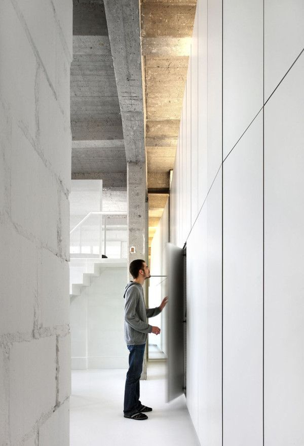 Loft FOR by Brussels-based adn architectures hidden storage