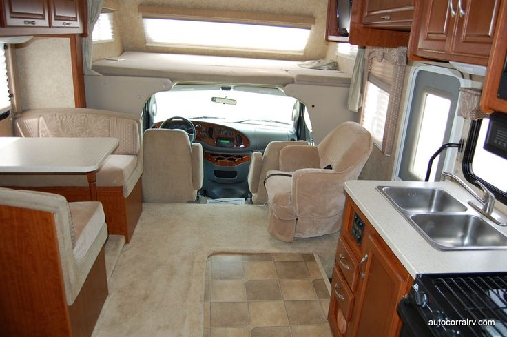 How A Small Rv Can Be Very Comfortable This Is The 24 Class C Interior Motorhome Interior