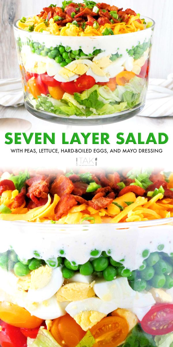 7 Layer Salad Recipe Recipe In 2020 Layered Salad Layered Salad Recipes Seven Layer Salad