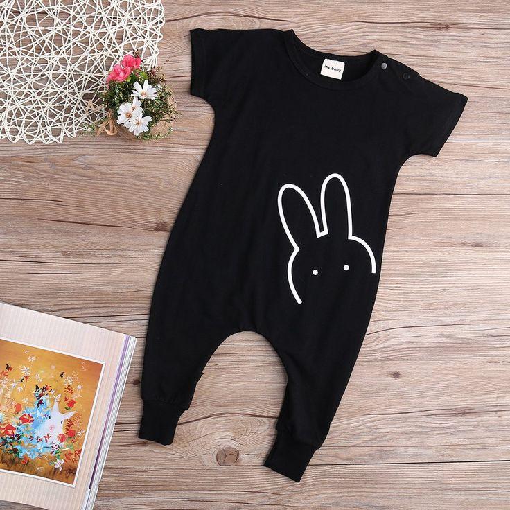 Bunny baby rompers