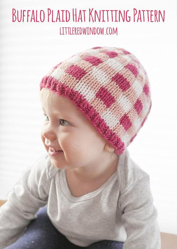 1fa24506c92 The Buffalo Plaid Baby Hat Knitting Pattern is deceptively simple to knit!  I looks complicated but its actually really easy and really cute for fall  and ...