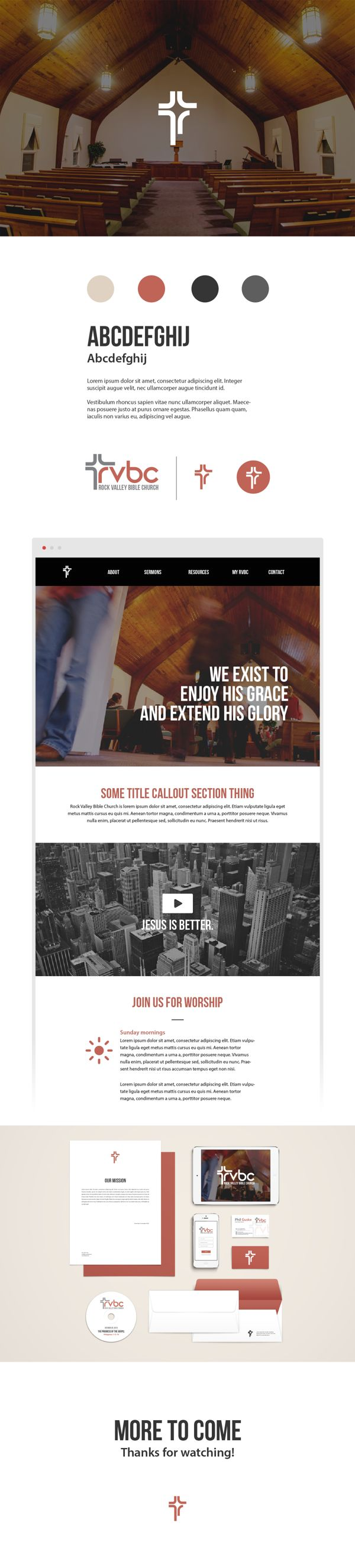 Branding and website Rock Valley Bible Church by http://srbrandon.com/