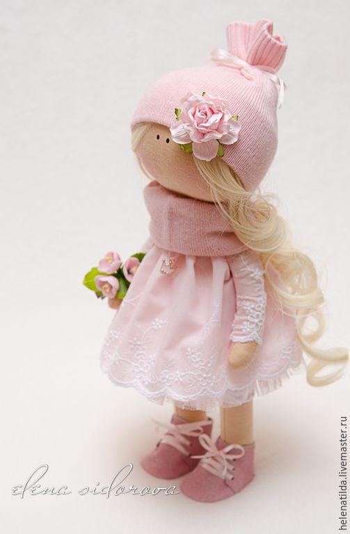 Купить Бэлла - кукла, коллекционная кукла, декор предмет интерьера, тильда, тыквоголовка, пупс ♡
