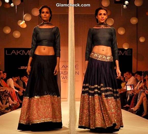 Manish Malhotra collection winter festive 2013 lakme fashion week