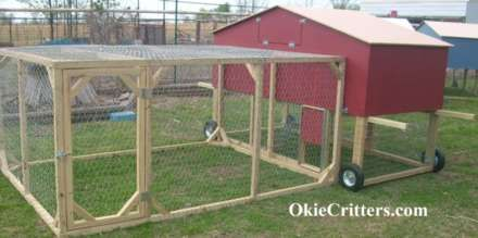 Portable Chicken Coops On Wheels - Chicken Tractors - Deluxe 2 Story Chicken Coop
