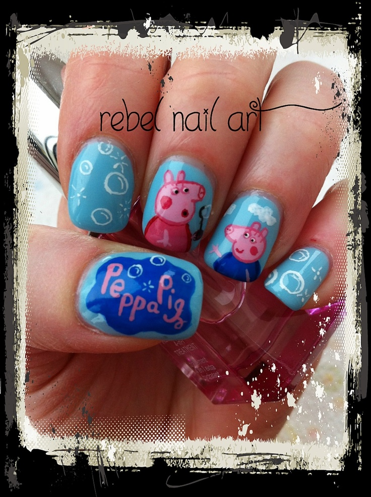 Cute Pig Nail Art Designs : Peppa pig nails nailart peppapig cute uñas