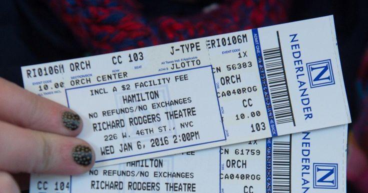 cost of hamilton tickets - Google Search