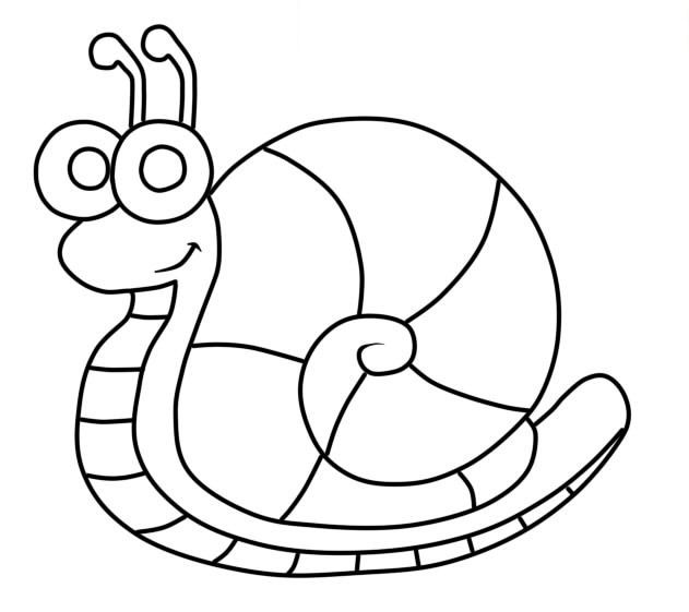 Easy Snail Coloring Page In 2020 Coloring Pages Color Cartoon