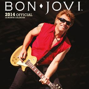 Bon Jovi 2014 Official Calendar. Selling over 130 million records worldwide and performing more than 2700 concerts, Bon Jovi are one of the world's best selling rock and roll bands of all time!  Now you can buy their official 2014 calendar and enjoy the band all year round.