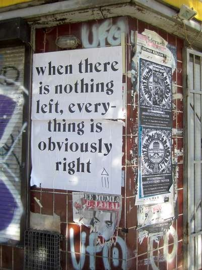 when there is nothing left,everything is obviously right...