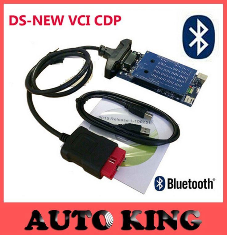 Enfriar Nueva vci tcs cdp de ds 2015. Software R1 con bluetooth obd obd2 tcs CDP Pro Plus herramienta de diagnóstico de la exploración de OBDII coches camiones de trabajo