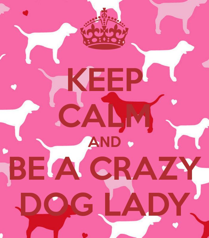 KEEP CALM AND BE A CRAZY DOG LADY... This is ALL YOU Quelo