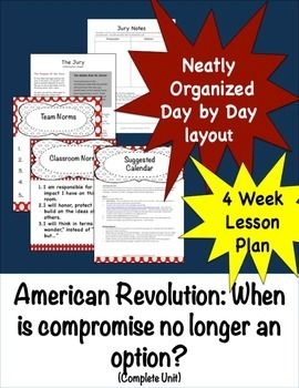 Buy this complete bundled American Revolution and SAVE! The unit starts by having the students take part in a mock trial of the of participants of the Boston Massacre.  Once they argue and defend their way though they can be introduced to the people involved through speed dating.