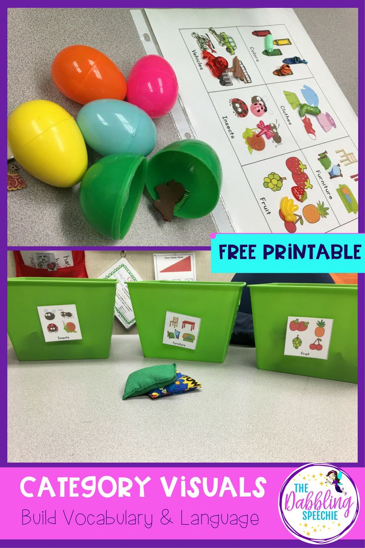 What goes together what doesn t belong fun worksheets and cut and - Work On Receptive And Expressive Language Skills With These Free Category Visuals Use With Any