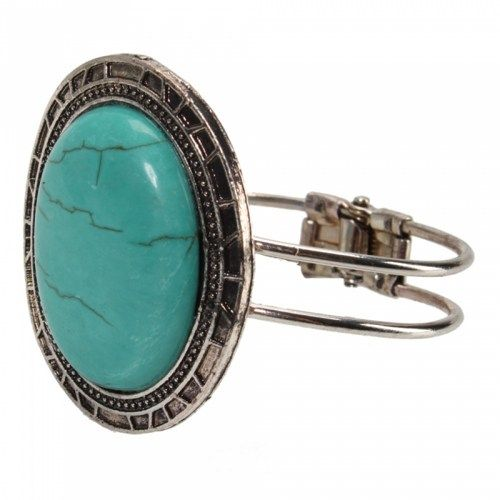 Oval Turquoise Bracelet 02 | favwish - Jewelry on ArtFire
