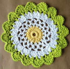 #320 Moon Flower Dishcloth – Maggie Weldon Maggies Crochet