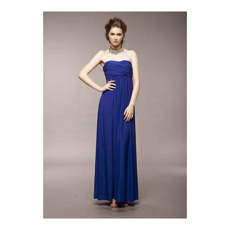 mavi uzun #japon #style #elbise dekolteli
