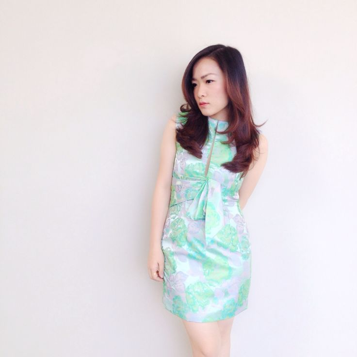My sweet floral green dress, design by @elyseesbylily Follow my instagram account @agnes_siauw