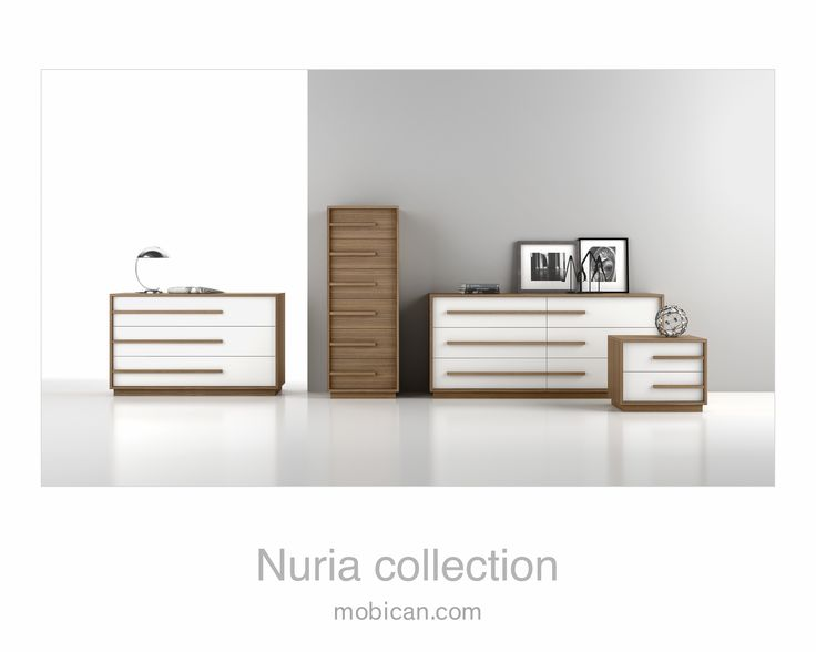 Click here to see Mobican's Nuria collection is sleek, colourful and contemporary   Cliquez ici pour voir la Collection Nuria de Mobican; http://mobican.com/nuria/ #nighttable #chest #dresser #mobican #madeincanada