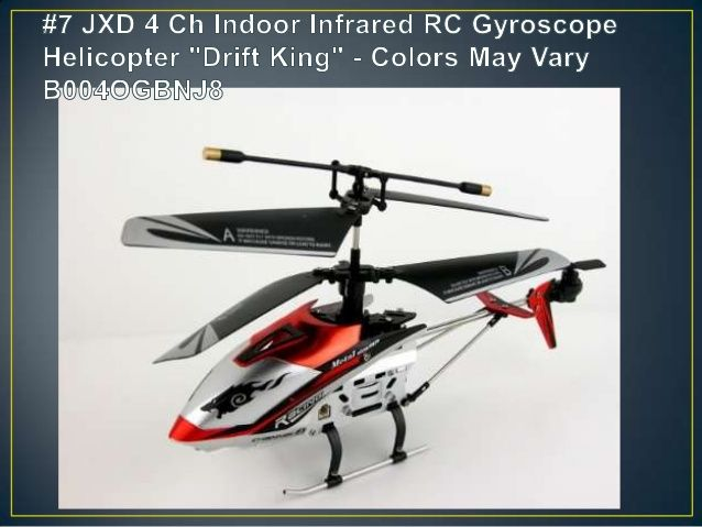 """#7 JXD 4 Channel Indoor Infrared RC Gyroscope helicopter """"Drift King"""" - Best RC Helicopter for Beginner - A Fun & Happy Hobby With Remote Helicopter Toy"""