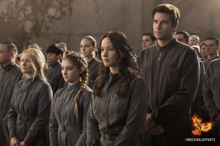 Prim, Katniss, and Gale attend Annie and Finnick's wedding; #MockingjayPart2