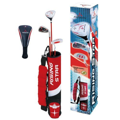 Paragon Rising Star Kids/Toddler Golf Clubs Set / Ages 3-5 Red Right-Hand. Details at http://youzones.com/paragon-rising-star-kidstoddler-golf-clubs-set-ages-3-5-red-right-hand/