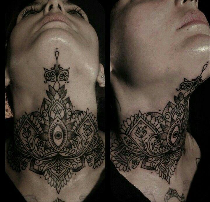 Full neck #necktattoosdesigns | Full neck tattoos, Neck ...