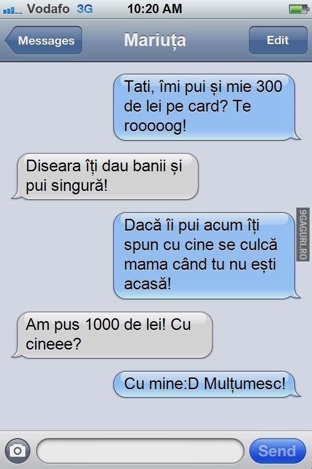 Cum îți șantajezi tatăl! Alătură-te distracției ➡ http://9gaguri.ro